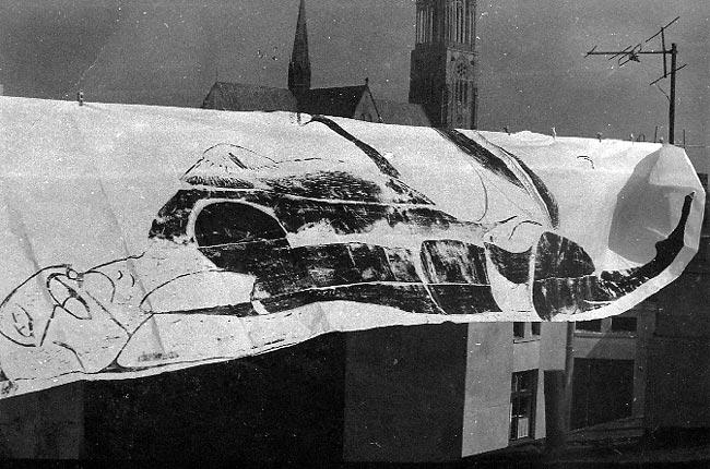 Wizje serca dam - cykl monumentalnych drzeworytów, 1990